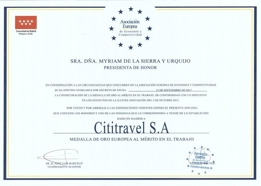 European award Merit at Work